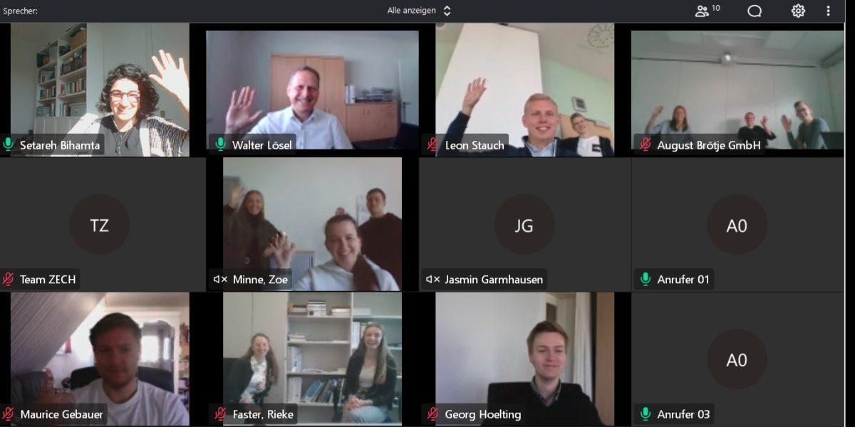 Beitragsbild. Ausbildungsbetriebe stärken. MS Teams Meeting